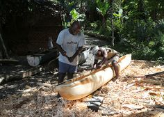 Dugout Canoe being Crafted in Buiambum, Morobe Province, Papua New Guinea, by Greg Miles