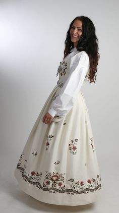 """ The man who made the bunad comes from Solør, Hedmark, Norway 🇳🇴 Folk Costume, Historical Clothing, Traditional Dresses, Norway, High Waisted Skirt, Gowns, My Style, Pretty, Womens Fashion"
