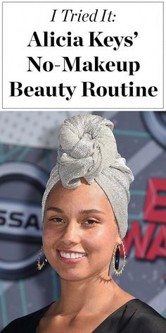 I Tried Alicia Keys' No-Makeup Beauty Routine Love Alicia Keys' no-makeup look? Click ahead to find out her skincare routine, and see how one beauty editor liked going makeup-free like Alicia<br> And I've completely fallin' for her regimen Beauty Routine 20s, Beauty Routine Checklist, Makeup Routine, Skincare Routine, Skin Routine, Updo Tutorial, Make Up Looks, Beauty Secrets, Beauty Hacks
