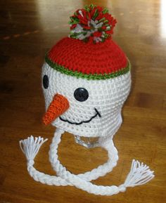 CROCHET PATTERN HAT Snowman Beanie and by Simply2Irresistible
