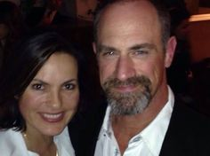 Mariska Hargitay and Christopher Meloni--better known as Detectives Benson and Stabler on the hit TV show Law & Order: SVU– were reunited again at a Detective, Benson And Stabler, Chris Meloni, Elite Squad, Happy Stories, Olivia Benson, Mariska Hargitay, Law And Order, Today Show
