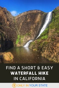 Take a short, simple waterfall hike in Northern California. This beautiful, easy trail is a local favorite, perfect for beginners, families, and photographers alike. Waterfall Hikes, Small Waterfall, Around The World In 80 Days, Around The Worlds, Best Bucket List, Famous Beaches, Hidden Beach, Best Hikes, Camping And Hiking