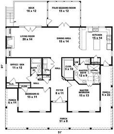 Farmhouse Style House Plan   2 Beds 2 Baths 2026 Sq/Ft Plan #81