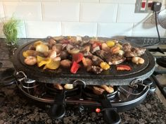 Grilled fajitas cooking with herbs. By Tina Richason