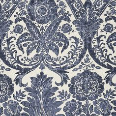 Impeccable print denim decorator fabric by Scalamandre. Item 16557-003. Low prices and free shipping on Scalamandre fabrics. Always 1st Quality. Search thousands of fabric patterns. Width 56 inches. Sold by the yard.
