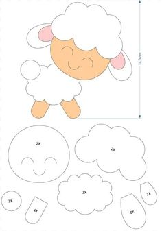 Ideas For Craft Animal Templates Felt Animal Patterns, Quiet Book Patterns, Stuffed Animal Patterns, Animal Templates, Felt Templates, Applique Patterns, Craft Patterns, Felt Diy, Felt Crafts