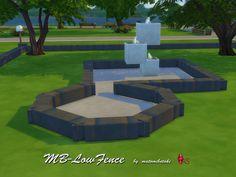 MB-LowFence  Niedrige Steinmauer für die Sims 4, kreiert von matomibotaki.  Low stone wall for Sims 4, created by matomibotaki.  https://www.allaboutsims.net/forum/index.php/Thread/15970-MB-LowFence/?postID=77783#post77783