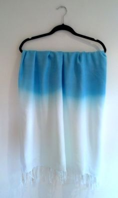 Floaty dip dye azure blue scarf x
