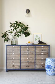 Faux flat file cabinet hack | The Painted Hive