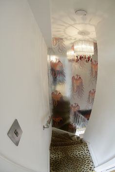Leopard print stairs