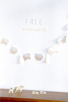 Une guirlande de mouton à imprimer pour la chambre de bb ! Free Baby Shower Printables, Free Printable Banner, Printable Crafts, Free Printables, Printable Paper, Eid Crafts, Baby Crafts, Paper Crafts, Mobiles