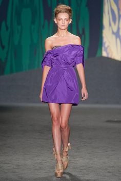 an incredible shade of violet from Vera Wang Spring 2013 RTW Collection - Fashion on TheCut
