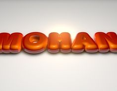 """Check out new work on my @Behance portfolio: """"3D BUBBLE TEXT - TYPOGRAPHY"""" http://on.be.net/1IJSZqn"""