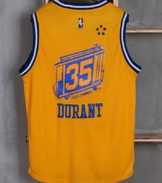 1550d5eadc9 Kevin Durant Jersey Golden State Warriors 35 Yellow Sewn Swingman  Basketball New - Basketball-NBA