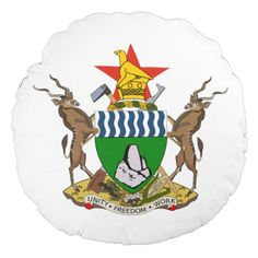 The current coat of arms of Zimbabwe was adopted on September 21, 1981, one year and five months after the national flag was adopted. Previously the coat of arms of Zimbabwe was identical to the former Coat of arms of Rhodesia.