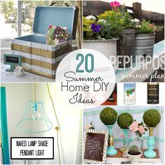 20 Summer Home DIY Ideas -- Tatertots and Jello