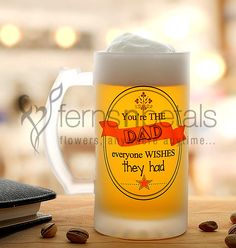 Is your #dad cooler than you? If he has better weekend plans than you have, you are bound to make your peer envy! This #Father's #Day, #gift this #cool #beer #mug to your #dad.