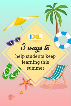 """As teachers, we all know about the phenomenon called """"the summer slide."""" While it's important to encourage students to get outside and enjoy summer activities, we also want to combat learning loss and help them retain the concepts they've worked so hard to learn in school! Here are a few fun and motivating ideas to help your students keep their knowledge fresh throughout the summer months. Summer Slide, Enjoy Summer, Summer Fun, Bingo Board, List Of Skills, National Geographic Kids, Classroom Jobs, Specific Goals, Teacher Favorite Things"""