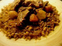 libyan food: Rishdat Kaskas - Libyan Home Made Pasta