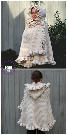 Exceptional Stitches Make a Crochet Hat Ideas. Extraordinary Stitches Make a Crochet Hat Ideas. Crochet Poncho Patterns, Shawl Patterns, Coat Patterns, Crochet Scarves, Crochet Shawl, Crochet Clothes, Crochet Ruffle, Diy Crochet, Crochet Capas