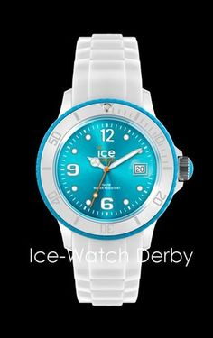 White & Turquoise Small Ice-Watch