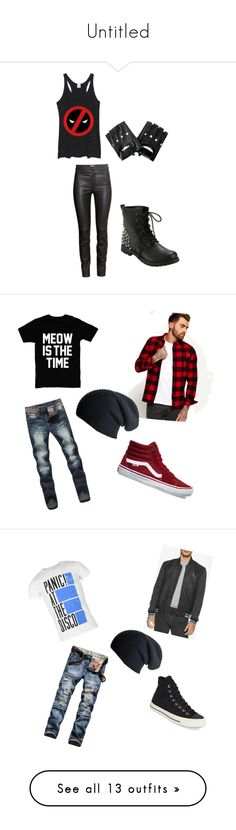"""Untitled"" by solstice-dean-winters on Polyvore featuring Marvel Comics, H&M, Hot Topic, Superdry, Vans, Black, men's fashion, menswear, Calvin Klein Jeans and Converse"