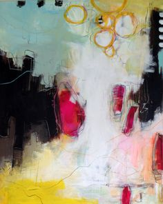 Mixed Media /acrylic painting - 80 x 100 cm by Majbrit Skou
