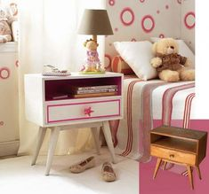 All you need is paint and creativity to make this lovely nightstand - 20 DIY Adorable Ideas for Kids Room