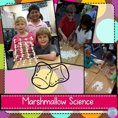 Bright Ideas: STEM for Primary Grades-- Students use marshmallows to build a structure for a STEM project. 3rd Grade Science Projects, First Grade Science, Primary Science, Third Grade Math, Stem Projects, Science Classroom, Teaching Science, Science For Kids, Science Fun