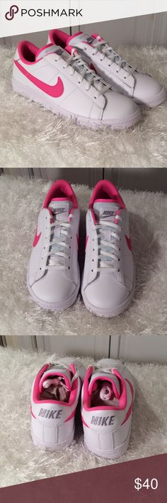 Nike tennis classic White/pink.  Brand new in box.  Youth sizes converted to women's in size break down Nike Shoes Sneakers