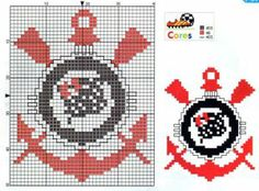 Escudo de times Chicago Cubs Logo, Drawing, Pixel Art, Diy And Crafts, Alice, Cross Stitch, Kids Rugs, Logos, Erika
