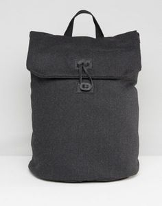 ASOS Backpack In Charcoal Melton