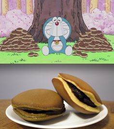 Devoured by Doraemon, Pulled out of Afros, Held Sadly by Haruka: The Always… I Want Food, Cute Food, Yummy Food, Japanese Snacks, Japanese Food, Dorayaki Receta, Japan Street Food, Real Food Recipes, Snack Recipes