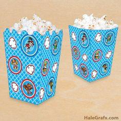 FREE Printable Paw Patrol Popcorn Box
