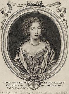 1681 Marie Angélique de Scoraille de Roussille, duchesse de Fontanges by Nicolas II de Larmessin