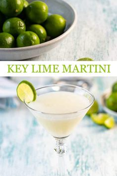 This easy key lime martini cocktail recipe is sweet and smooth! cocktails cocktailrecipes lime vodka vodkacocktails vodkadrinks spring cocktails a communal table bourbon honey cocktail with rosemary simple syrup Spring Cocktails, Easy Cocktails, Fruity Cocktails, Sweet Cocktails, Fancy Drinks, Vodka Gimlet Recipe, Key Lime Martini, Key Lime Margarita, Avocado Margarita