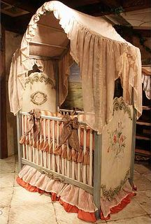 Guinevere canopy crib from Posh Tots... WOW.