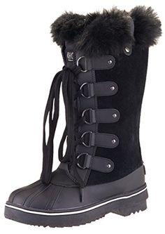 0e9bfcf46fbbb Khombu Womens Jeanie Waterproof Tall Winter Snow Boot 8 BM US Black     To