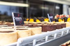 Minis are a Sinners & Saints favorite! Minis, Cereal, Cheese, Breakfast, Desserts, Food, Morning Coffee, Tailgate Desserts, Deserts