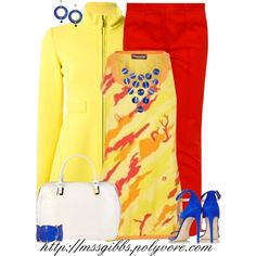 A fashion look from December 2013 featuring yellow top, belted coat and chinos pants. Browse and shop related looks. Yellow Blazer, Yellow Cardigan, Blue Boots, Belted Coat, Red Pants, Yellow Top, Fashion Looks, Stitch, My Style