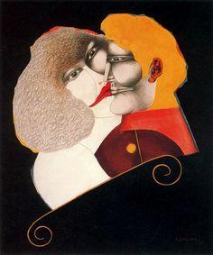 Richard Lindner - Kiss