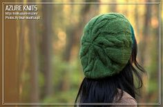 AZURE KNITS BLOG: Free Pattern! Quick Cable Slouch Hat//Hat constructions