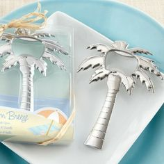 Palm Tree Bottle Opener Favor for a beach, tropical or nautical wedding or bridal shower. - Beach Front Occasions, www.beachfrontoccasions.com