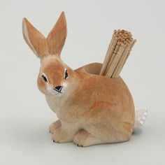 つまようじ入れ ウサギ   SOUVENIR FROM TOKYO ONLINE SHOP