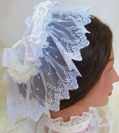 Victorian Civil War Lace Cap - Affordable Elegance