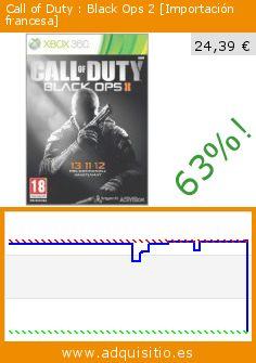 Call of Duty : Black Ops 2 [Importación francesa] (Videojuegos). Baja 63%! Precio actual 24,39 €, el precio anterior fue de 66,64 €. http://www.adquisitio.es/activision/call-of-duty-black-ops-2-1