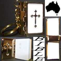 Mini Bible key ring   great CHRISTMAS   Emporiumdownunder  http://r.ebay.com/yLQF73