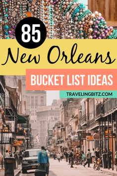 85 Unique Bucket List Ideas to add to Your New Orleans Itinerary Unique things you'll want to do, see, eat, and drink in New Orleans beyond Mardi Gras and catching beads on Bourbon Street. The best bucket list ideas for your New Orleans itinerary! New Orleans Vacation, New Orleans Travel, Trip To New Orleans, New Orleans Drinks, New Orleans Bars, New Orleans With Kids, New Orleans Tourism, Best Of New Orleans, Weekend In New Orleans