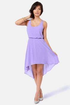 Couldn t Be Strappier Lavender High-Low Dress 5632e65322