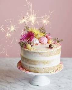 Naked Birthday Cake from www.whatsgabycooking.com (@whatsgabycookin)